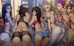 Wallpaper love, ass, pantsu, panties, boobs, breast, anime, tatoo, tits, big ass, chest, panty, thigh, titty, ...