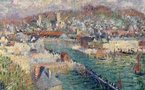 Picture landscape, picture, Gustave Loiseau, Gustave Loiseau, The Port Of Fécamp