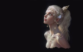 Picture girl, elf, art, Spirit, fantasy, elf, Qi Wu