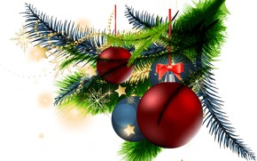 Picture balls, toys, graphics, tree, branch, new year