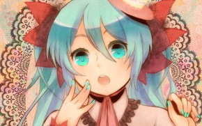 Picture look, girl, Vocaloid, Hatsune Miku