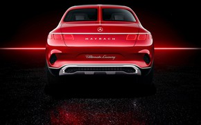 Picture Mercedes-Benz, Vision, rear view, 2018, Mercedes-Maybach, electrocreaser, Ultimate Luxury