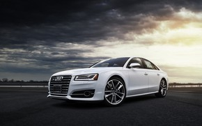 Wallpaper White, Clouds, Audi, VAG