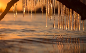 Wallpaper water, ice, icicles