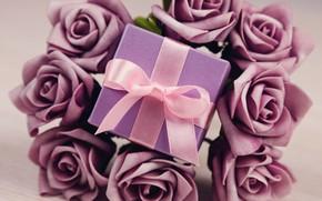 Wallpaper flowers, flowers, Valentine's Day, love, roses, romantic, gift, roses, love, violet