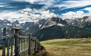 Picture mountains, the fence, valley