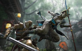 Picture sword, game, armor, man, fight, ken, blade, samurai, shield, knight, pearls, spear, combat, For Honor
