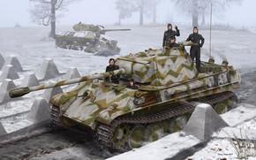 Picture figure, Germany, SAU, Panzerkampfwagen V Panther, The second World war, Medium Tank, Panzerwaffe, 3-in. Gun …