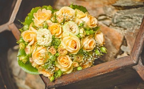 Picture roses, love, buds, flowers, romantic, roses, wedding bouquet