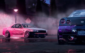 Picture Pink, Nissan, Drift, Car, Purple, Skyline, R34