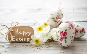 Wallpaper decoration, pastel, Easter, Easter, happy, the painted eggs, flowers, spring, eggs, flowers