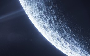 Picture moon, planet, sci fi