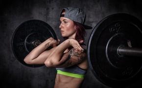 Wallpaper Redhead, workout, crossfit