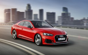 Picture Audi, City, German, Red, Race, Speed, RS5, 2018, Drive, RS, A5