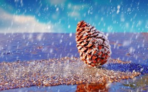 Wallpaper water, snow, bump