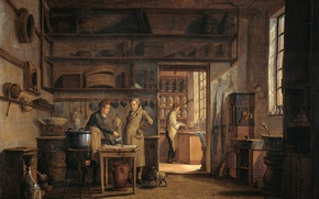 Picture oil, picture, Johannes Jelgerhuis, The Interior Of The Pharmacy