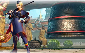 Picture girl, background, the game, Street Fighter V
