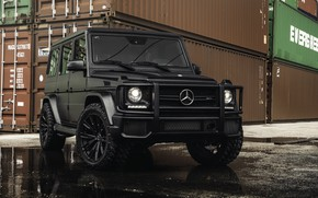 Wallpaper G-class, Mercedes, Black, Briсk, Gelendwagen