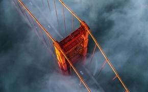 Picture fog, USA, the Golden gate bridge
