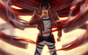 Picture art, Shingeki no Kyojin, Eren Yeager, Attack of the titans