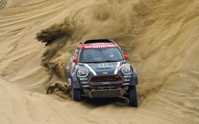 Picture Sand, Mini, Dust, Sport, Desert, Speed, Race, Rally, Dakar, Dakar, SUV, Rally, Dune, X-Raid Team, …