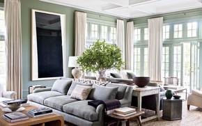 Picture furniture, Villa, interior, living room
