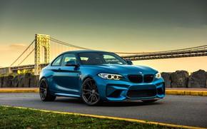 Picture BMW, bridge, stones