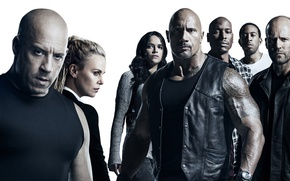 Wallpaper Charlize Theron, The Fate of the Furious, The Fast and the Furious 8, Letty Ortiz, ...