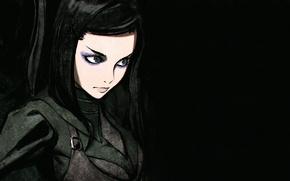 Picture girl, anime, cyberpunk, art, ergo proxy