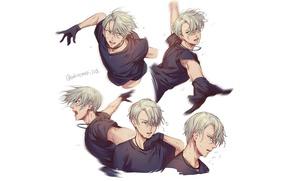 Picture anime, art, Yuri on Ice, Yuri on the ice, Viktor Nikiforov