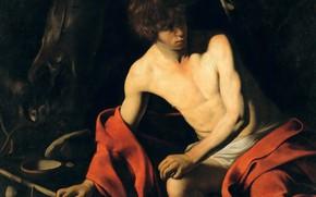 Picture picture, mythology, Michelangelo Merisi da Caravaggio, John The Baptist
