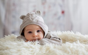 Picture child, baby, plaid, baby, suit