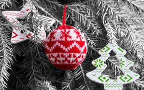 Picture snow, decoration, balls, toys, wool, New Year, Christmas, happy, Christmas, vintage, wood, snow, New Year, …