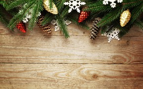Picture decoration, berries, tree, New Year, Christmas, happy, Christmas, balls, wood, New Year, Merry Christmas, Xmas, …