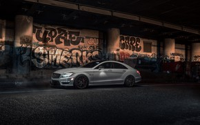 Wallpaper Mercedes, Graphity, Light, AMG, W218, White, CLS63