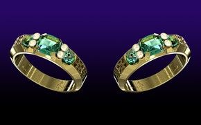 Picture the dark background, diamonds, gems, cut, mirror, jewelry, gold glitter, the sparkle of emeralds, gold …