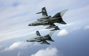 Picture the sky, fighter, pair, bomber, Panavia Tornado