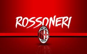 Wallpaper logo, AC Milan, Serie A, sport, football, Rossoneri, wallpaper