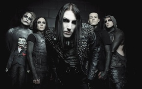 Picture metalcore, post-hardcore, Motionless In White, gothic rock