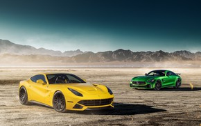 Wallpaper The Ferrari F12 1, GTR 1, Mercedes-Benz, landscape