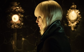 Wallpaper cinema, Charlize Theron, movie, film, Atomic Blonde, blonde, woman