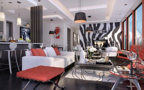 Picture design, the room, allegoria living, DINING & KITCHEN, LIVING