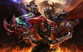Picture the game, fantasy, art, Champions, Suke ∷, League of Legends wallpaper