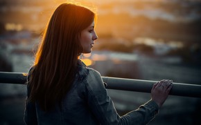 Picture city, light, girl, fashion, dress, sunset, young, evening, model, sun, street, pretty, mood, spring, look, …