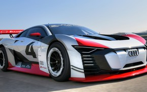 Picture Audi, racing car, Vision, racing track, 2018, Gran Turismo, E-Tron