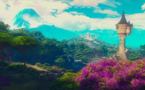 Wallpaper The Witcher 3, landscape, nature