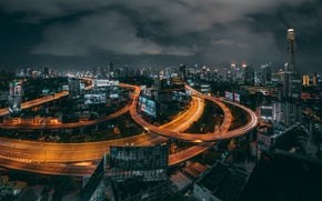 Picture clouds, night, the city, Thailand, Bangkok