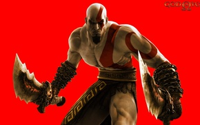 Picture sword, demigod, Kratos, God of War, man, ken, blade, hero, spartan, angry, powerful, strong, fury, …