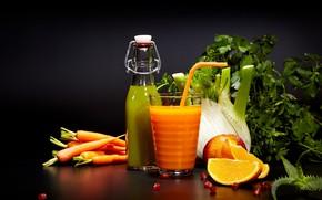 Picture greens, juice, drink, vegetables, citrus