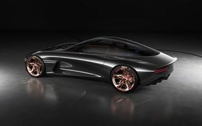Picture auto, silver, black background, genesis essentia concept
